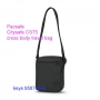 Pacsafe Citysafe CS75 anti-theft cross body travel bag - black