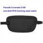 Pacsafe Coversafe X100 RFID blocking waist wallet - black