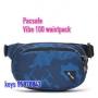 *new Pacsafe Vibe 100 anti-theft hip /crossbody pack 防盜腰包 -迷彩藍