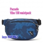 *new Pacsafe Vibe 100 anti-theft hip /crossbody pack 防盜腰包 -迷彩藍